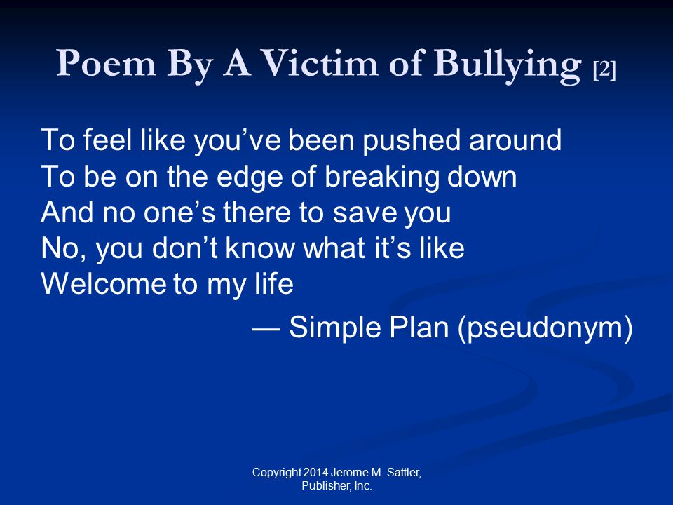Poem By A Victim of Bullying [2]